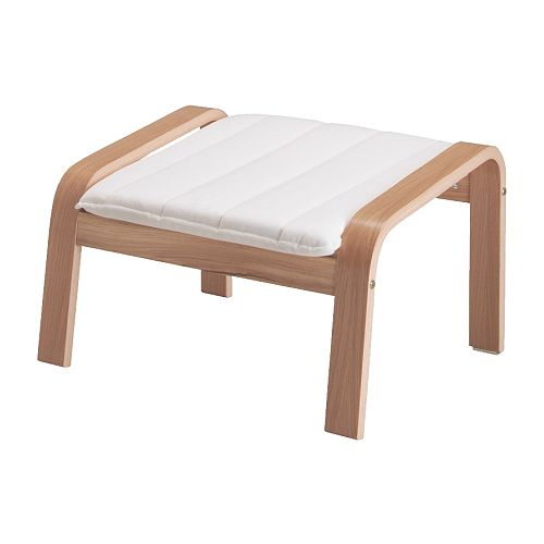 POÄNG Footstool IKEA The frame is made of layer-glued bent oak which is a very strong and durable material.