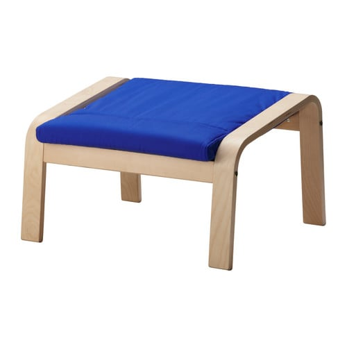 POÄNG Footstool IKEA Easy to keep clean; removable, machine washable cover.  Frame made of layer-glued bent birch; a very strong and durable material.