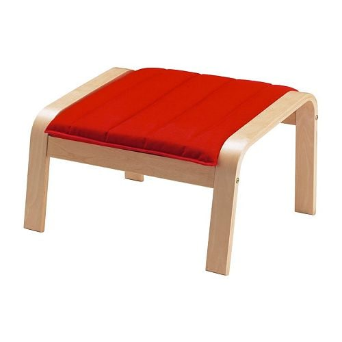 POÄNG Footstool IKEA Frame made of layer-glued bent birch; a very strong and durable material.