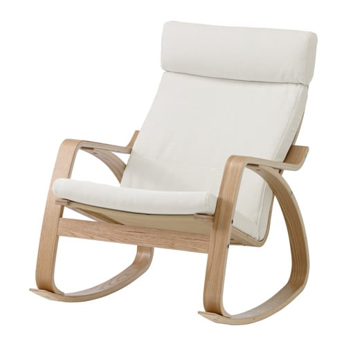 Po ng rocking chair finnsta white oak veneer ikea for Childrens rocking chair ikea