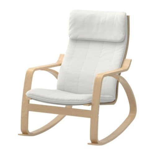 POÄNG Rocking-chair IKEA Frame made of layer-glued bent birch; a very strong and durable material.  High back provides great support for your neck.