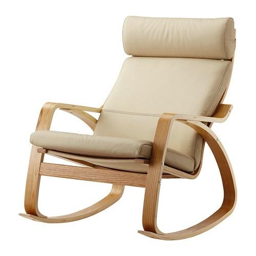 Po Ng Rocking Chair Glose Eggshell Oak Veneer Ikea