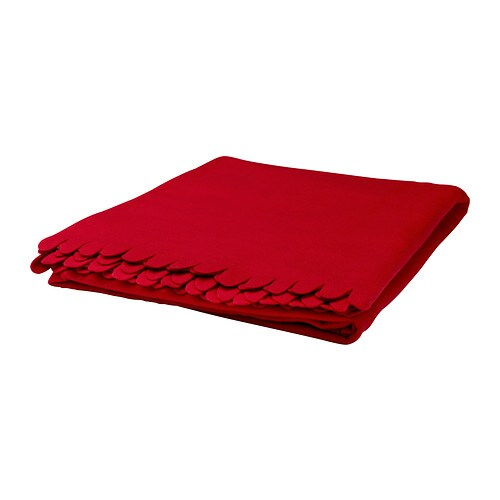 IKEA POLARVIDE throw The fleece throw feels soft against your skin and can be machine washed.