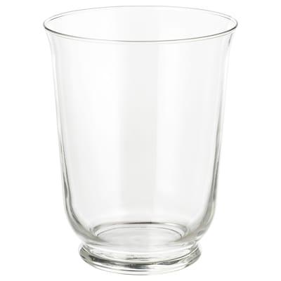 POMP Vase/lantern, clear glass, 18 cm