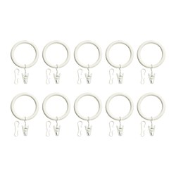 IKEA PORTION Curtain Ring With Clip And Hook