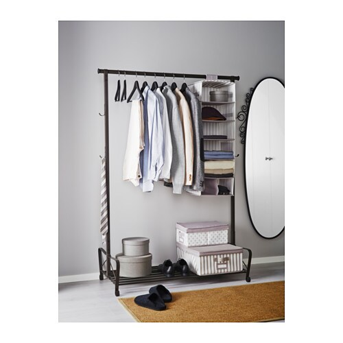 Portis clothes rack black 119x60 cm ikea for Ikea clothes rack