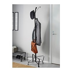 Portis hat and coat stand black 191 cm ikea for Porte parapluie ikea