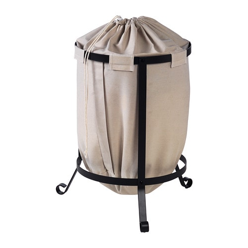 PORTIS Laundry bin IKEA The laundry bag does not absorb moisture or odours from the laundry because it is made of polyester.