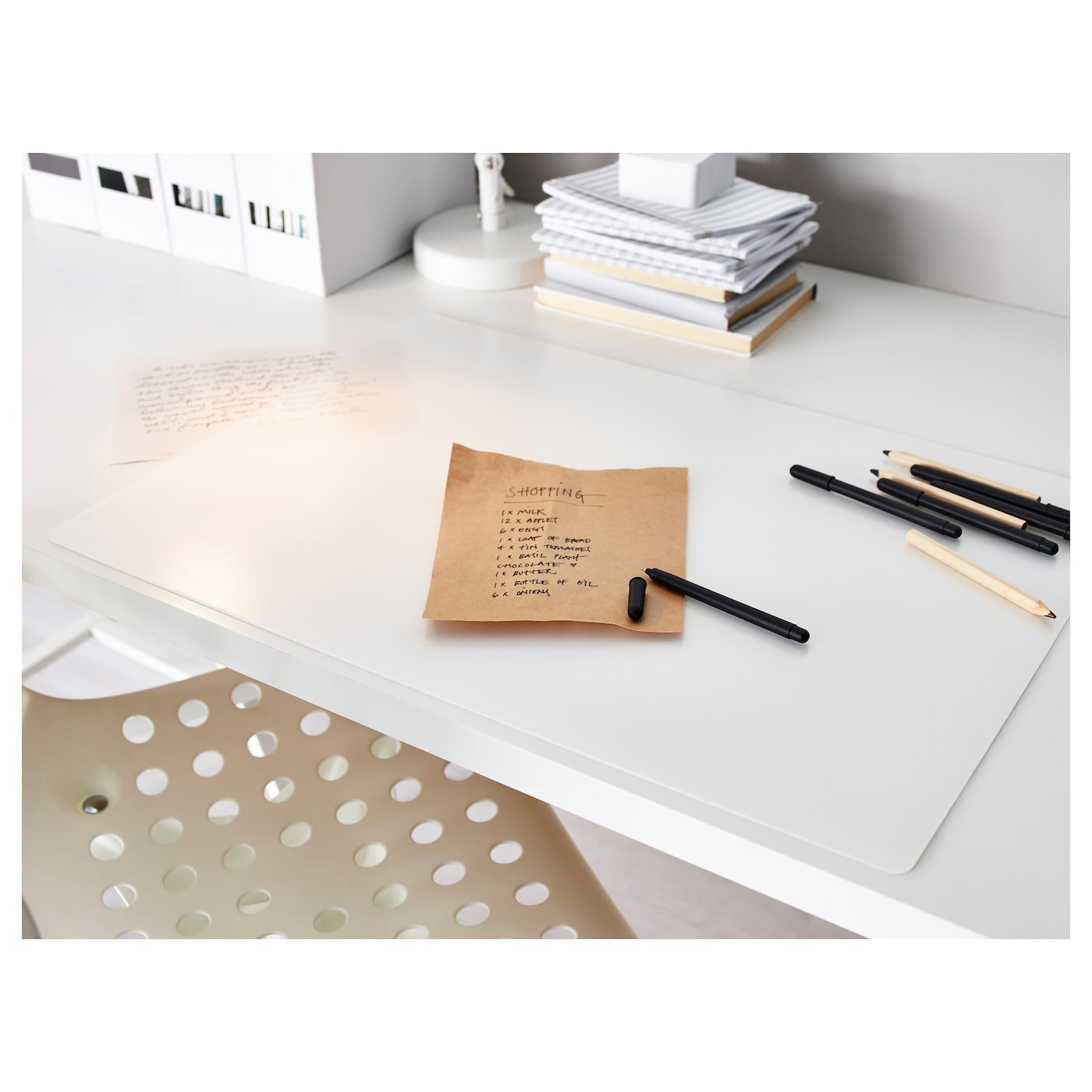 IKEA PRÖJS desk pad Protects your desk from stains and marks.