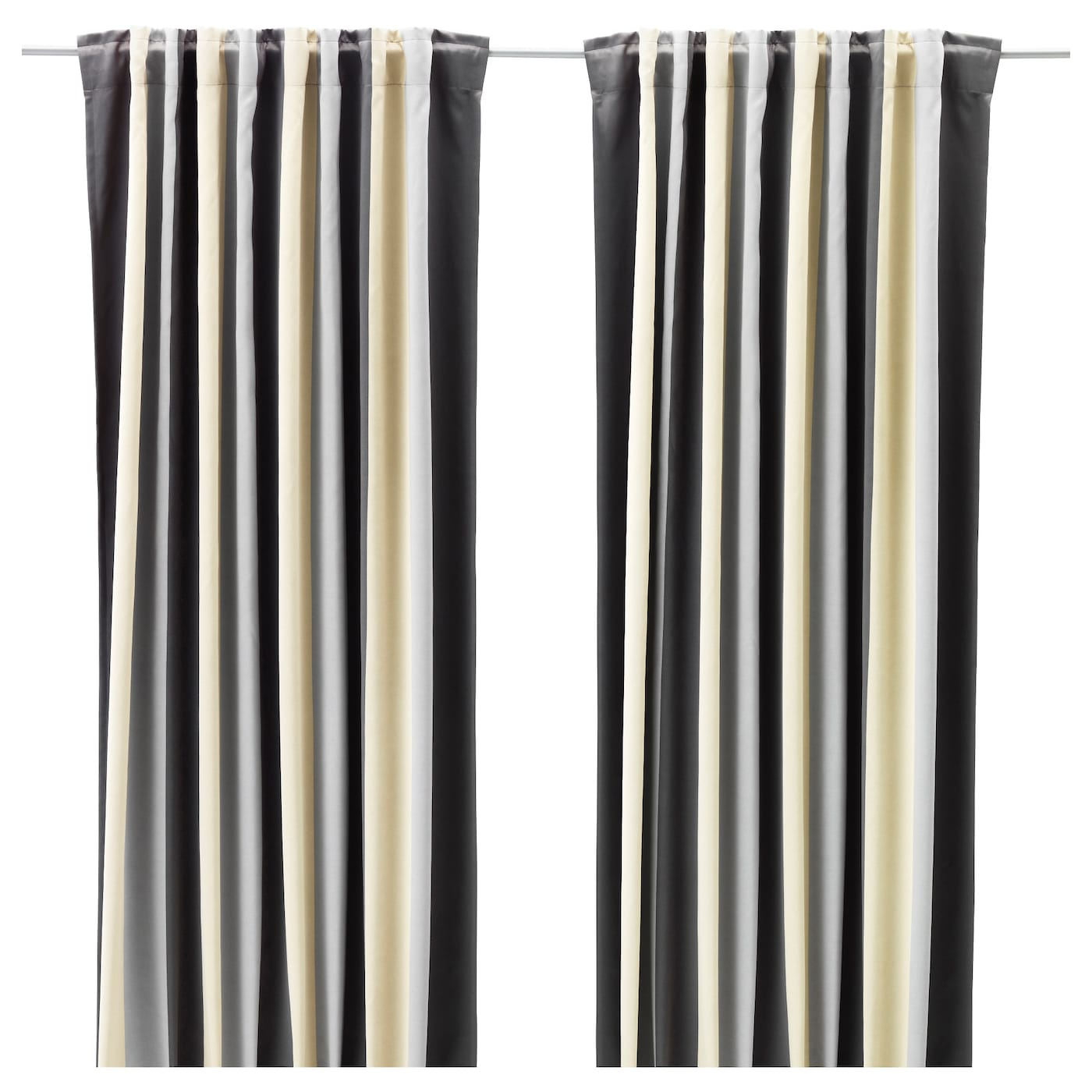 Praktlilja block out curtains 1 pair grey beige 145x250 Beige curtains