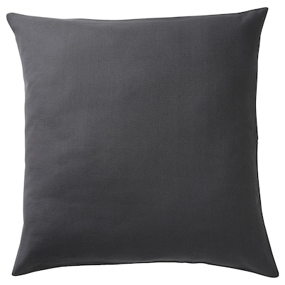 PRAKTSALVIA Cushion cover, anthracite, 50x50 cm