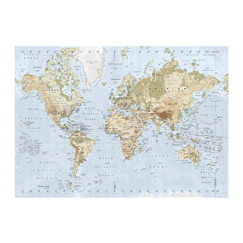 Premi r picture ikea - Carte du monde tableau ...
