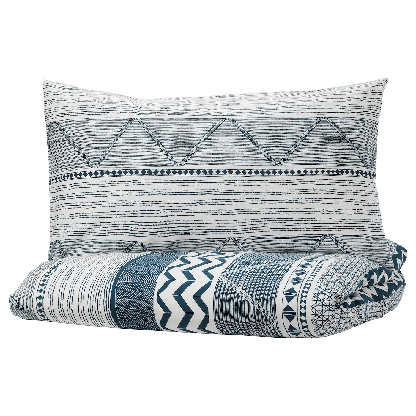 IKEA PROVINSROS quilt cover and pillowcase Pure cotton that feels soft and nice against your skin.