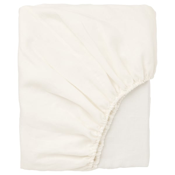 PUDERVIVA fitted sheet white 104 /inch² 200 cm 150 cm 36 cm