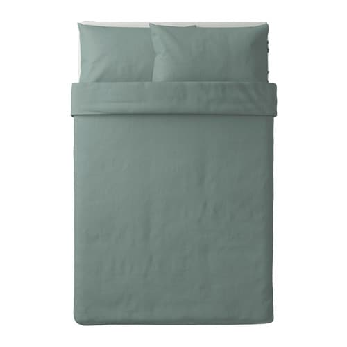 puderviva quilt cover and 2 pillowcases green 200x200. Black Bedroom Furniture Sets. Home Design Ideas