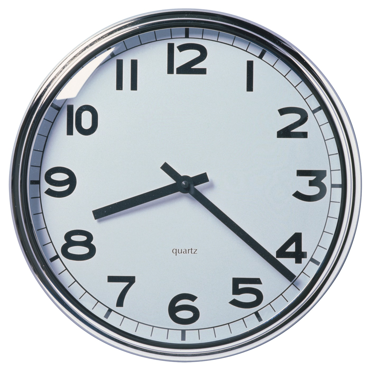 IKEA PUGG wall clock Highly accurate at keeping time as it is fitted with a quartz movement.