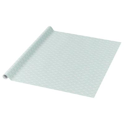 PURKEN Gift wrap roll, light green/white, 3.0x0.7 m