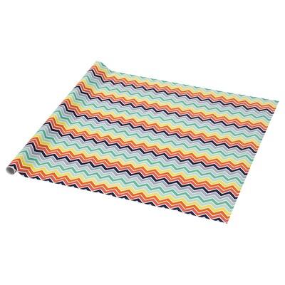 PURKEN Gift wrap roll, multicolour/Waves, 3.0x0.7 m