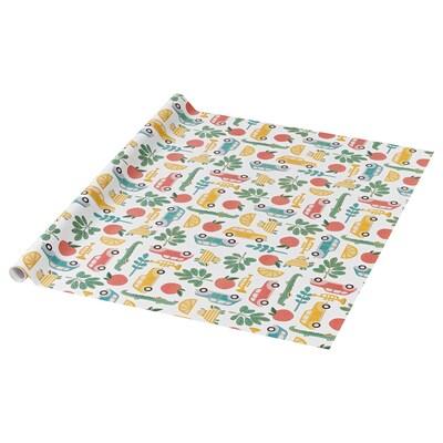 PURKEN Gift wrap roll, multicolour, 3.0x0.7 m