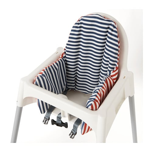 Pyttig supporting cushion and cover red blue ikea - Coussin chaise ikea ...