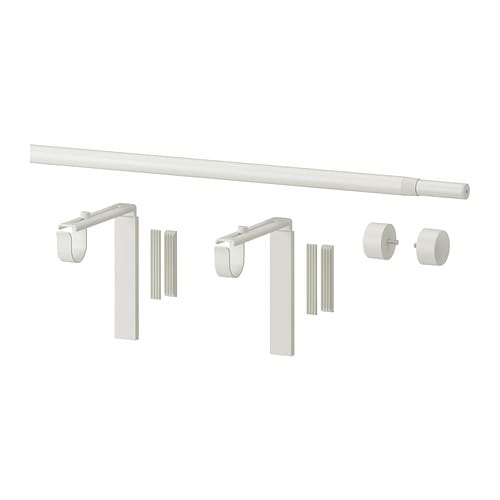 IKEA RÄCKA curtain rod combination Can be mounted on the wall or ceiling. The length is adjustable.