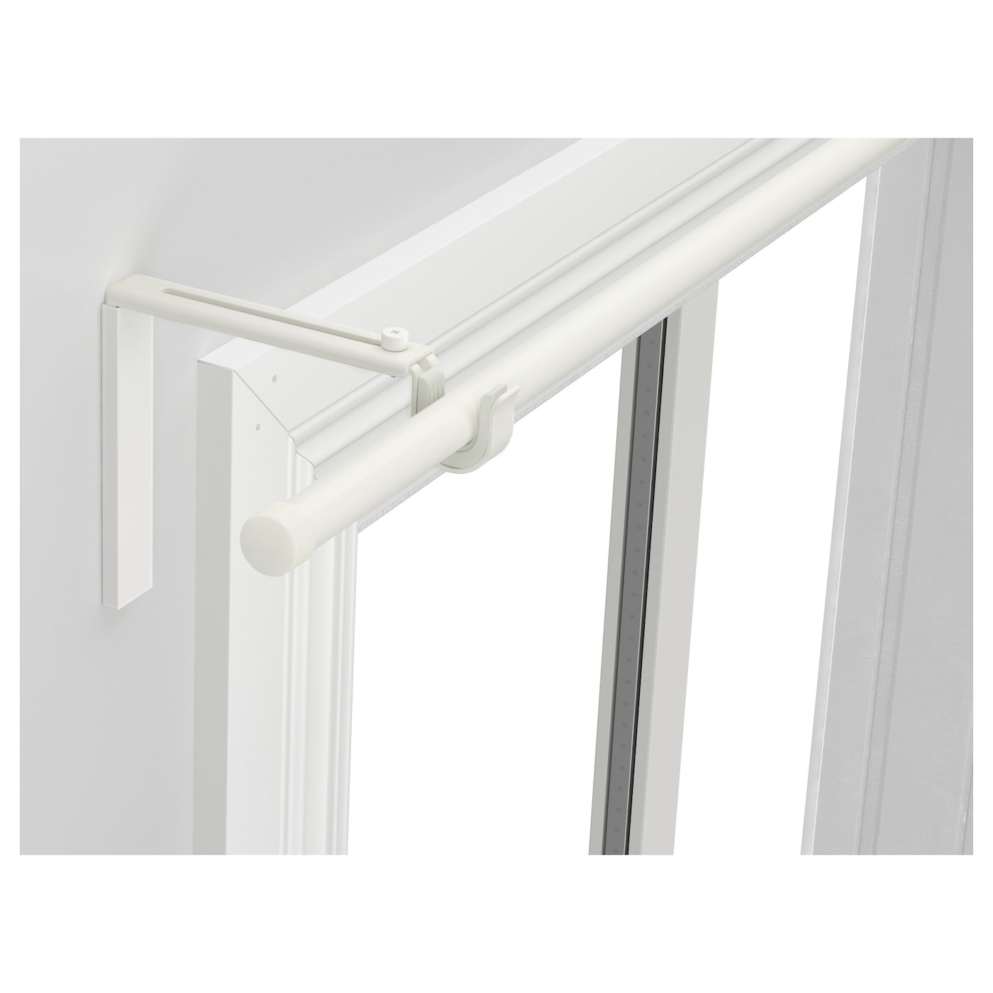 rÄcka curtain rod combination white  cm  ikea - ikea rÄcka curtain rod combination can be mounted on the wall or ceilingthe length