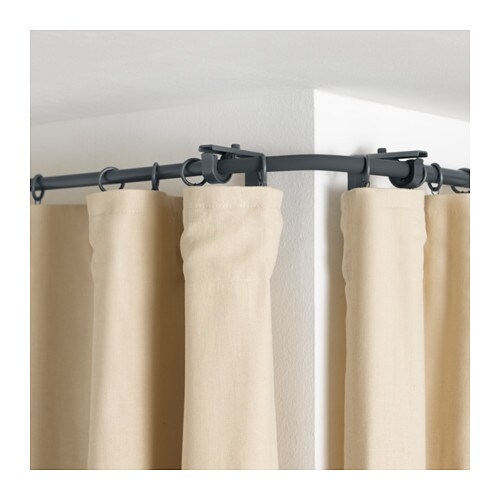 r cka curtain rod corner connector silver colour ikea. Black Bedroom Furniture Sets. Home Design Ideas