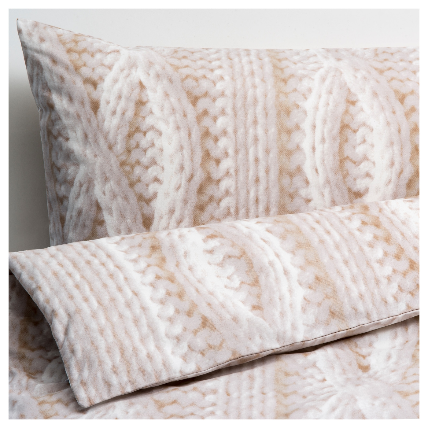 IKEA RÅGLOSTA quilt cover and 2 pillowcases Cotton, feels soft and nice against your skin.