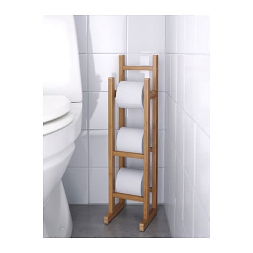 R grund toilet roll stand bamboo ikea - Ikea meuble toilette ...