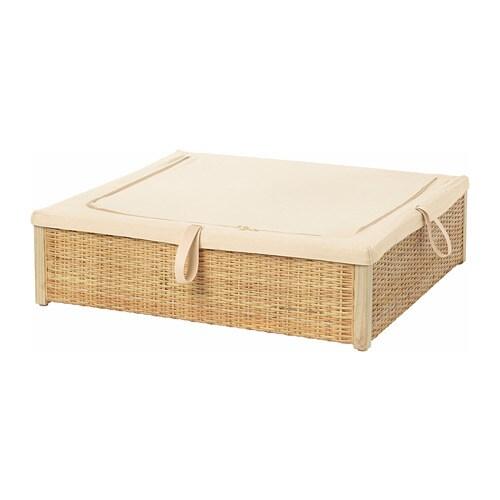 Romskog Bed Storage Box Rattan 65 X 70 Cm Ikea