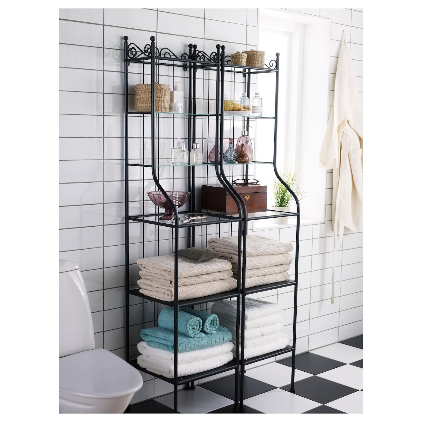 IKEA RNNSKR shelving unit Removable shelves, easy to clean.