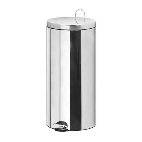 IKEA RACKEL pedal bin The bin is easy to move since it has a handle on the back.