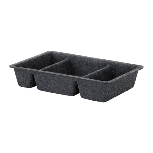 RAGGISAR Tray Dark Grey 20x30 Cm IKEA
