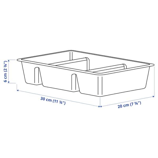 RAGGISAR Tray, dark grey, 20x30 cm