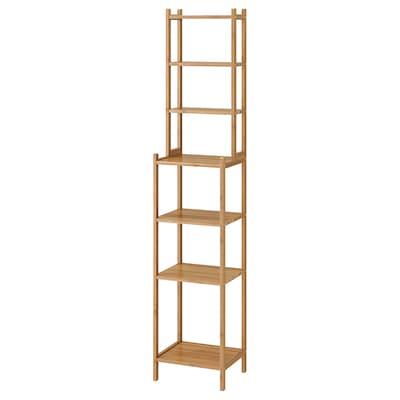 RÅGRUND shelving unit bamboo 33 cm 28 cm 163 cm