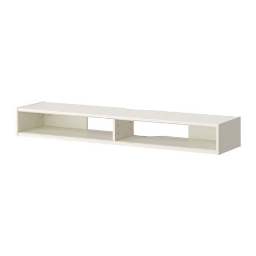 IKEA RAMSÄTRA media shelf Powder-coated fibreboard makes the surface durable and scratch resistant.