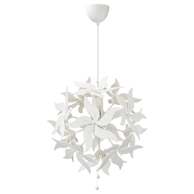 RAMSELE Pendant lamp, flower/white, 43 cm