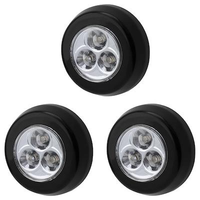 RAMSTA LED minilamp battery-operated black 2 cm 7 cm 3 pack