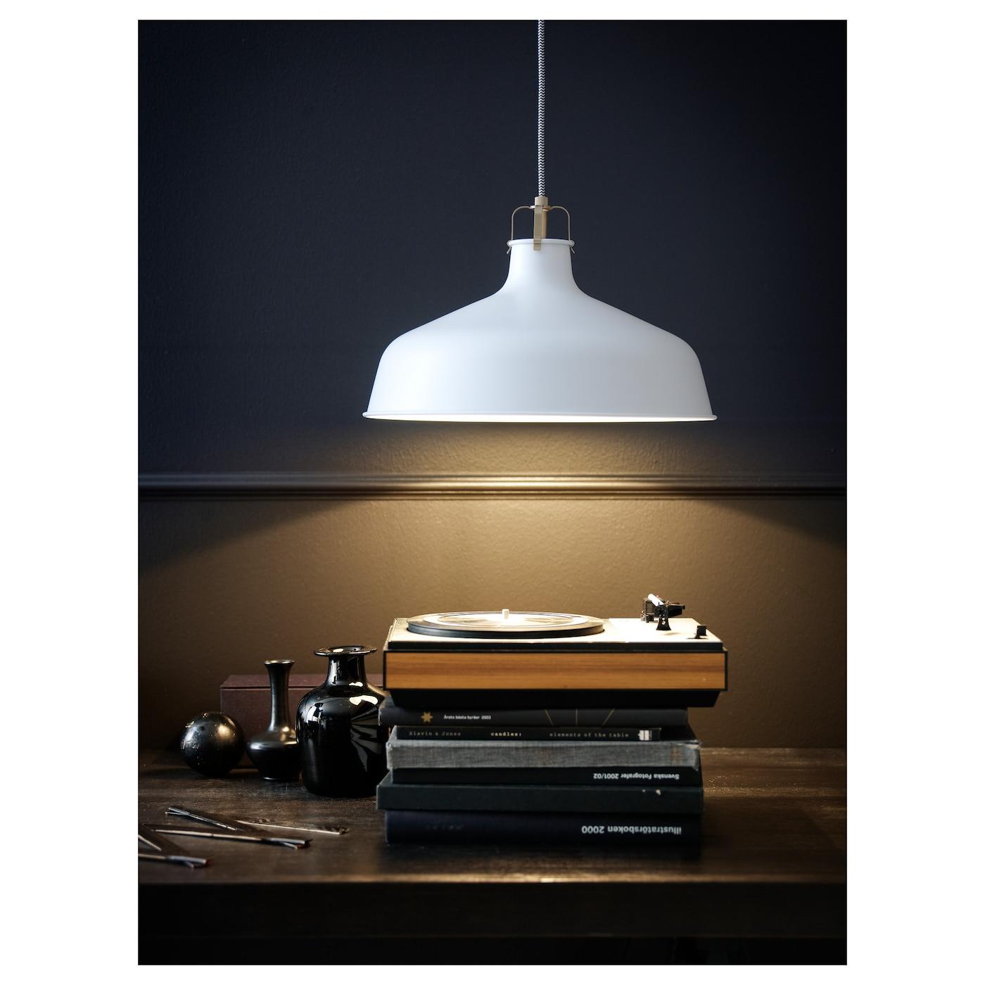Ranarp Pendant Lamp Black 38 Cm: RANARP Pendant Lamp Off-white 38 Cm