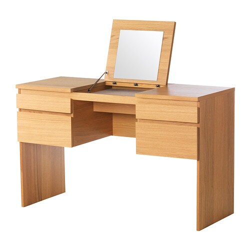 Ikea Schuhschrank Dunkelbraun ~ RANSBY Dressing table with mirror  oak veneer  IKEA