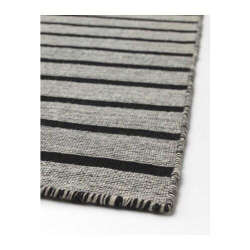Ikea Rug Felt: RASKMÖLLE Rug, Flatwoven Handmade Black 170x240 Cm