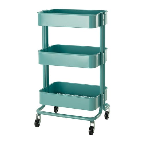 RÅSKOG Kitchen trolley IKEA The sturdy construction and four castors make it easy for you to move the trolley and use it wherever you like.