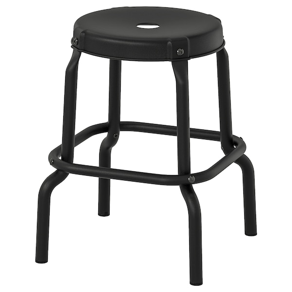 Enjoyable Stool Raskog Black Ibusinesslaw Wood Chair Design Ideas Ibusinesslaworg