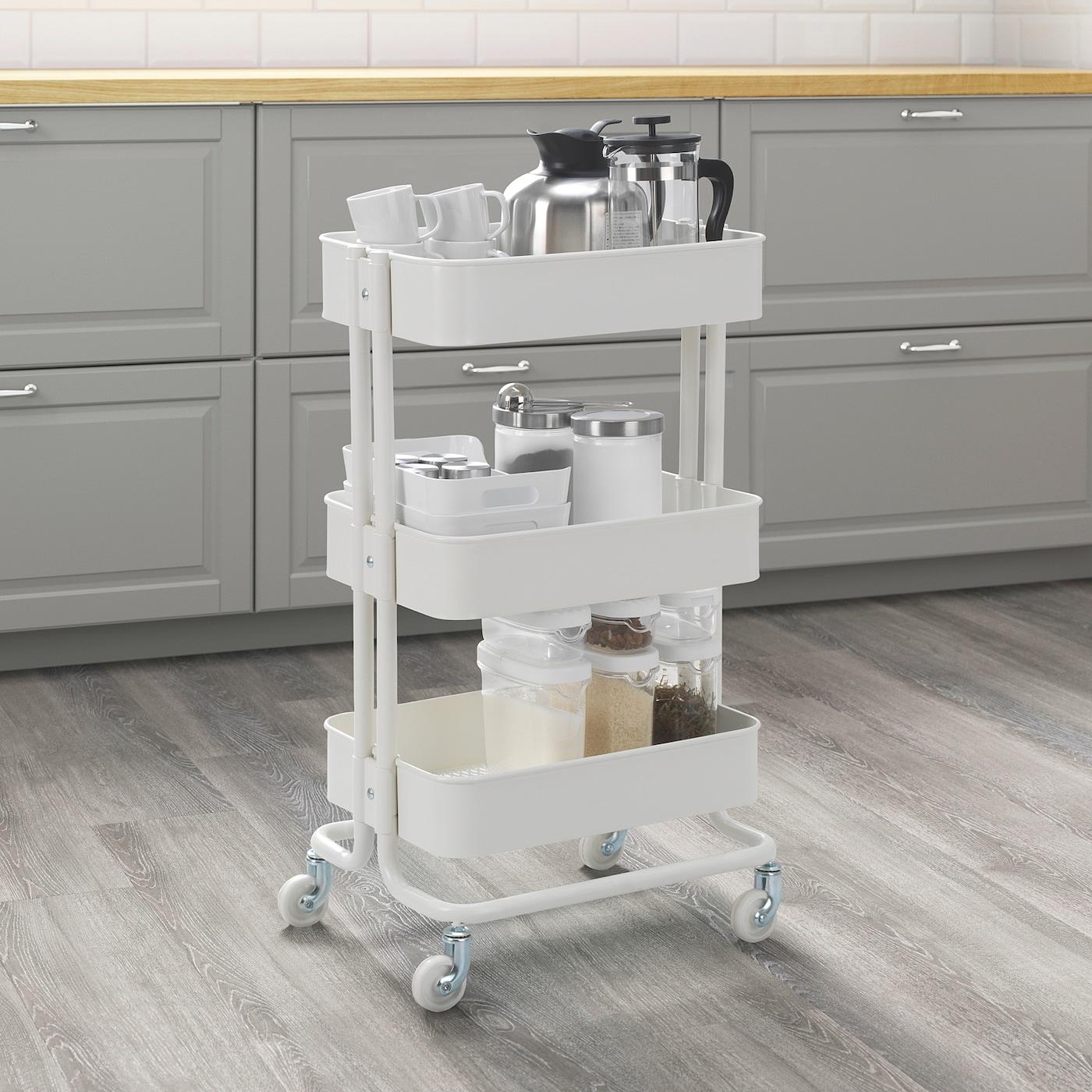 Raskog White Trolley 35x45x78 Cm Ikea