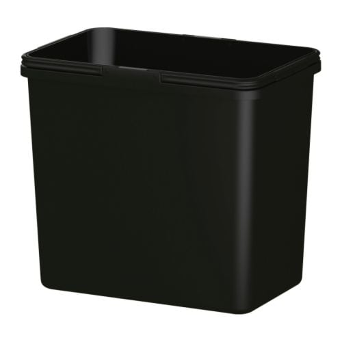 RATIONELL Waste sorting bin IKEA Folding handles; keep the bin-liner in place and make the bin easy to carry.  Rounded corners; easy to clean.
