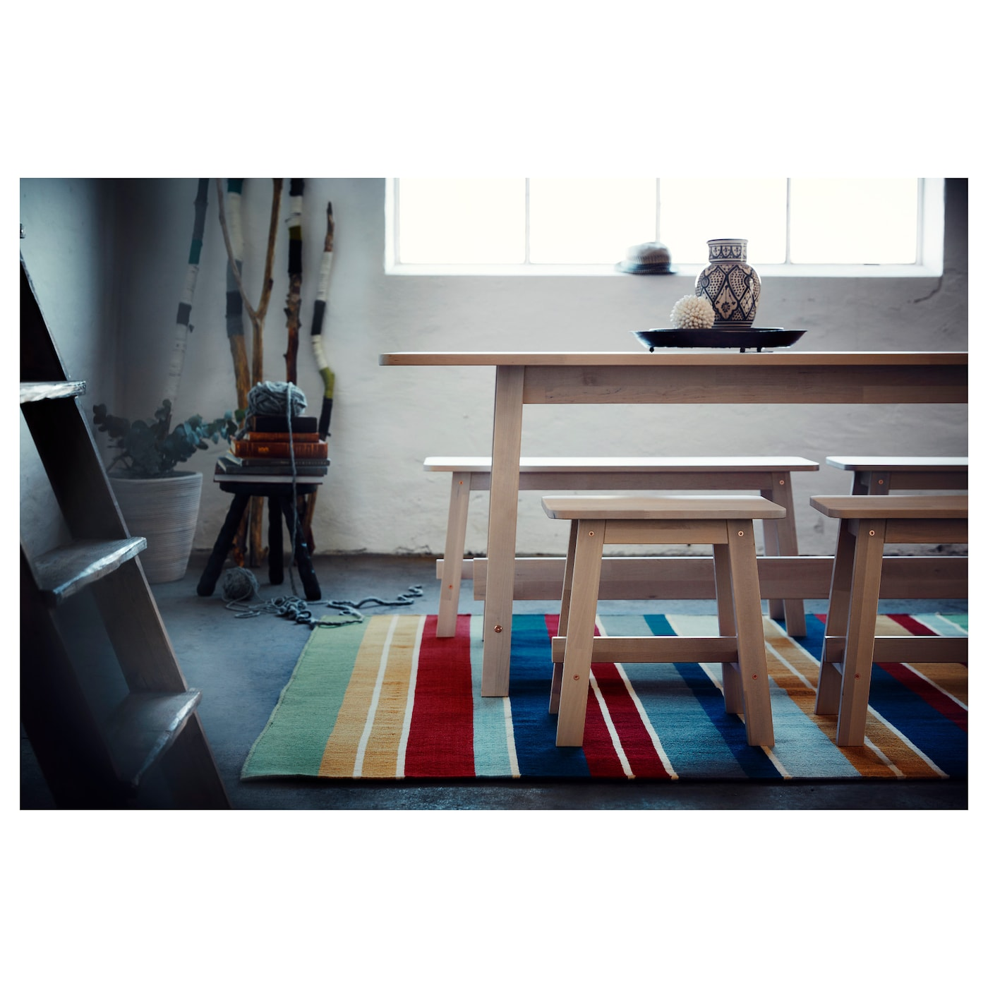 IKEA RAVNSÖ rug, flatwoven Easy to vacuum thanks to its flat surface.