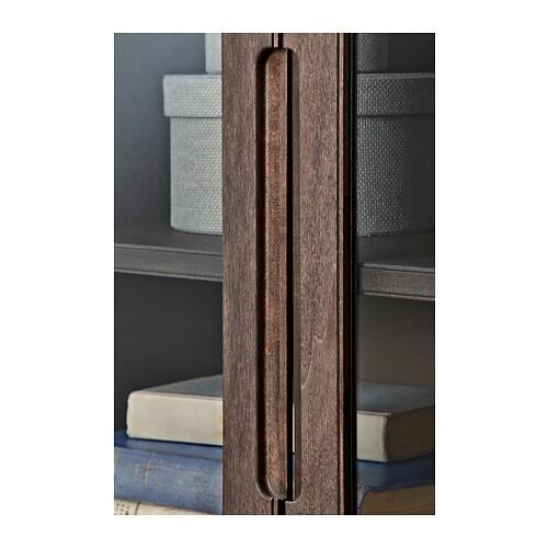 Regiss R Glass Door Cabinet Brown 118x203 Cm Ikea