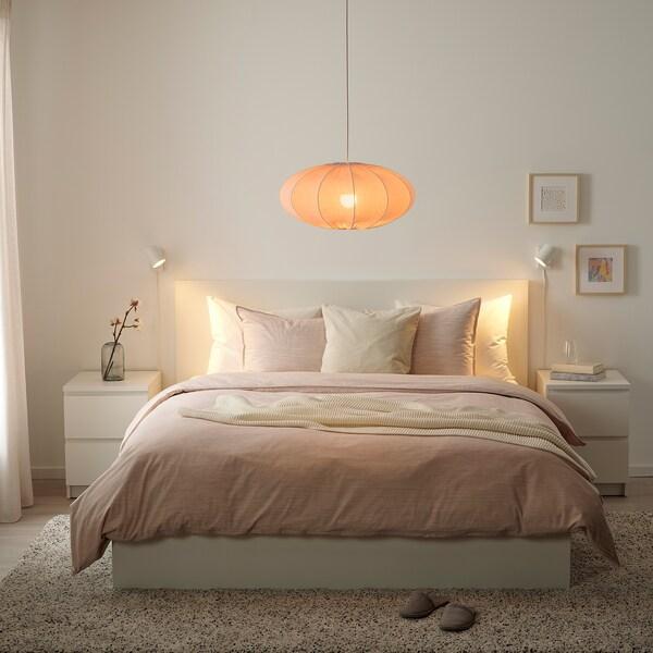 REGNSKUR Pendant lamp shade, oval pink, 52 cm