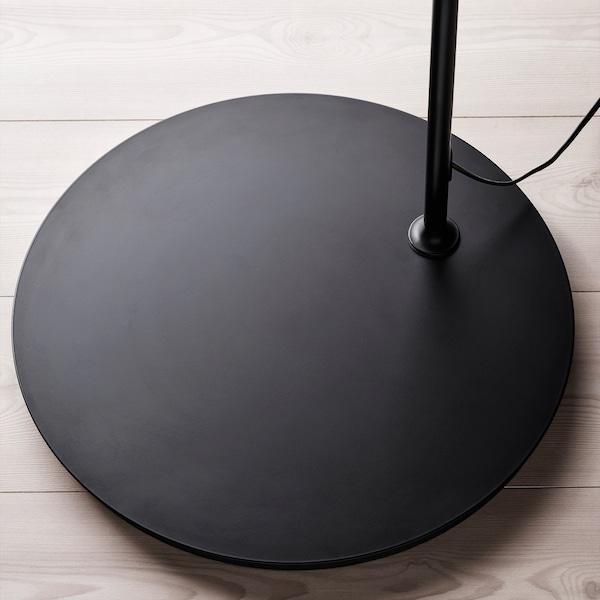 REGNSKUR / SKAFTET Floor lamp, arched, white/black