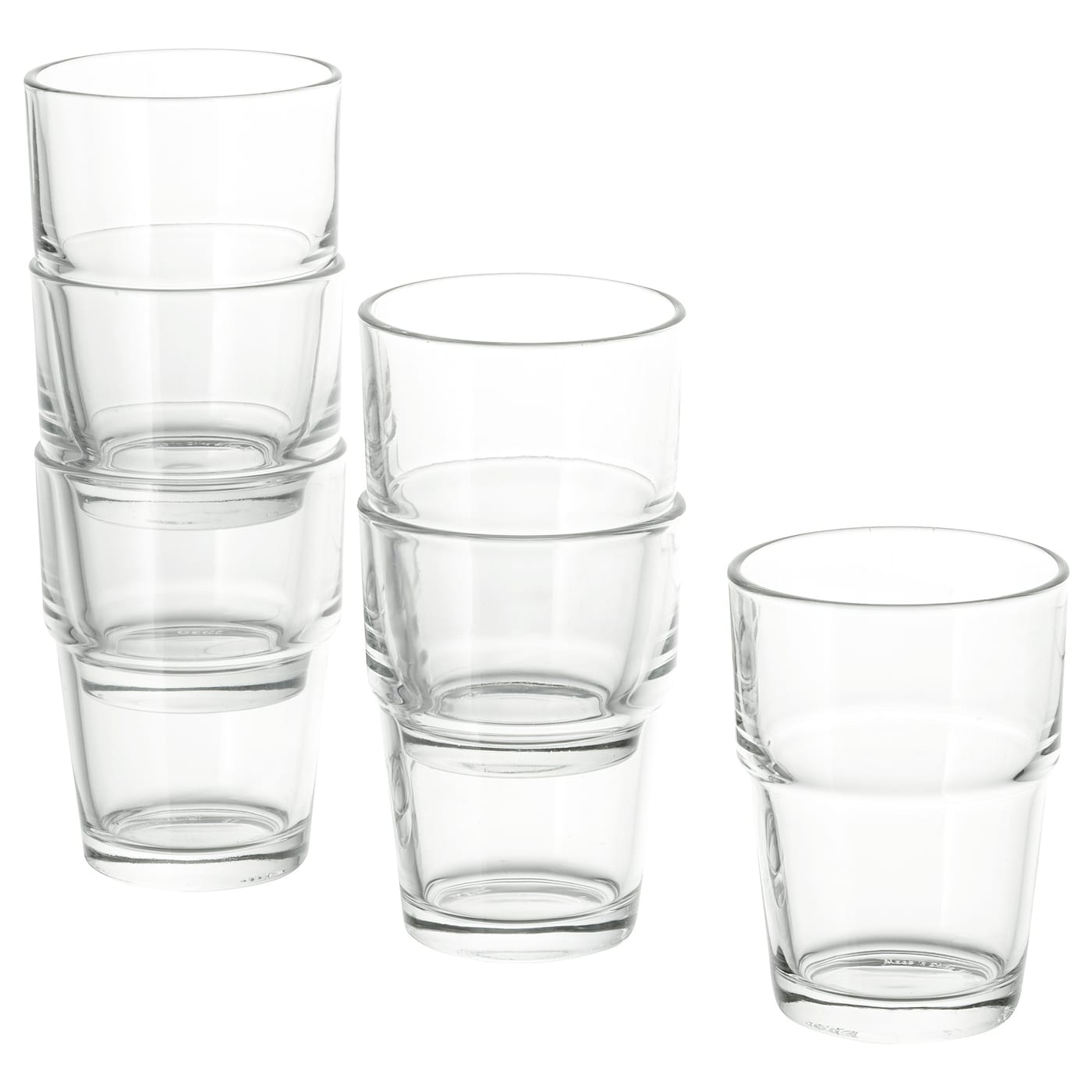 IKEA REKO glass Can be stacked inside one another to save space in your cabinets when not in use.